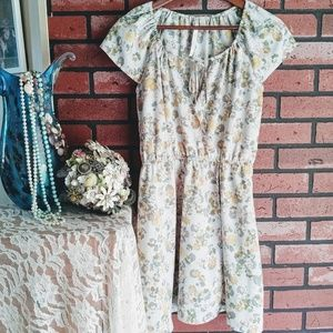 Lauren Conrad Blue Floral Dress Sz 4
